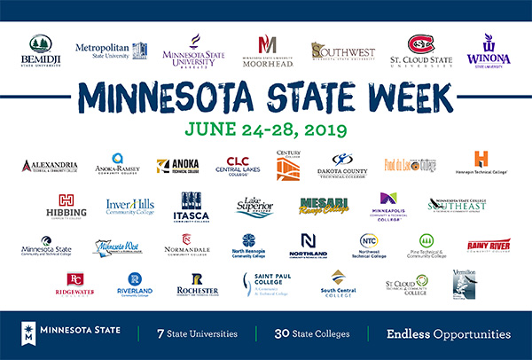 Minnesota State college and university logos