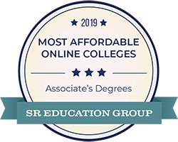 Top 20 Most Affordable Online Associate Degree Badge